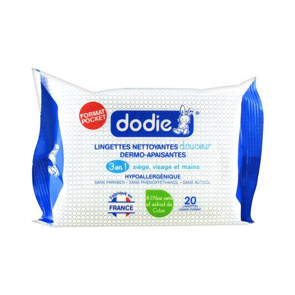 Dodie Lingettes Nettoyantes Dermo-Apaisantes 20 unités