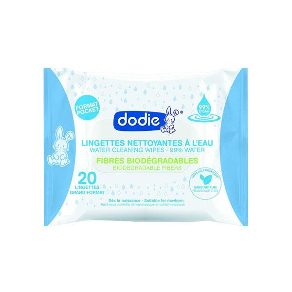 Dodie Hygiène & Soin Lingettes à l'Eau Pocket 20 unités