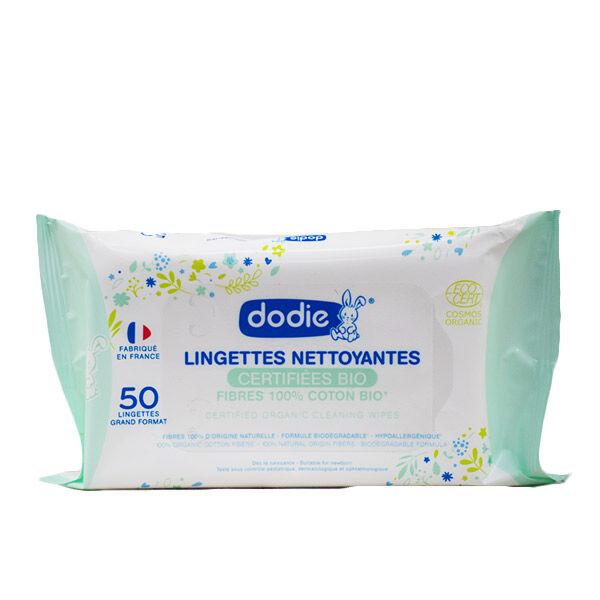 Dodie Hygiène et Soin Lingettes Nettoyantes Bio 50 unités