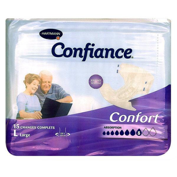 Hartmann Paul Confiance Confort Change Slip Absorption 8 Gouttes Adulte L 15 unités
