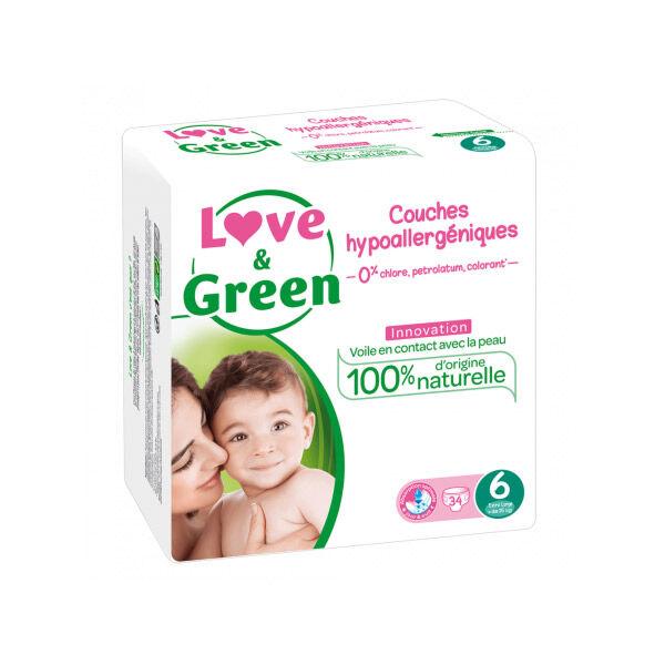 Love & Green Couches Hypoallergéniques T6 +15kg 34 unités
