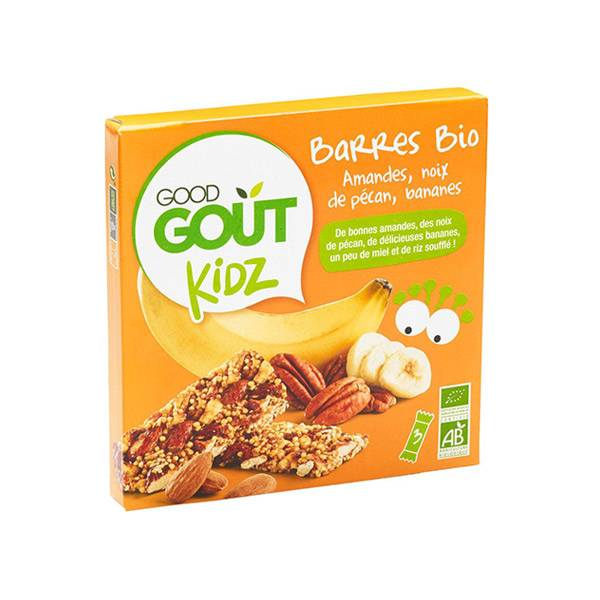 Good Goût Kidz Barres Amandes Noix de Pécan Bananes Bio 3 x 20g