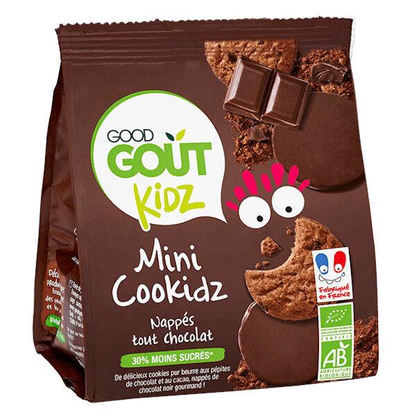 Good Goût Kidz Mini Cookidz Nappés Tout Chocolat +3ans Bio 115g