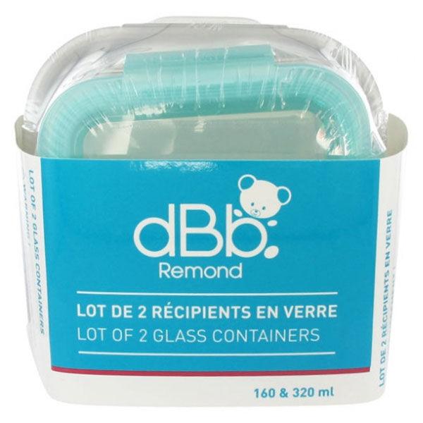 dBb Remond Récipients en Verre 320ml + 160ml