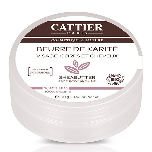 Cattier Beurre de Karité 100% BIO 100g