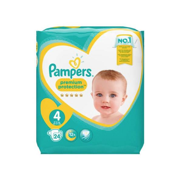 Pampers New Baby Premium Protection T4 9-14kg 24 couches