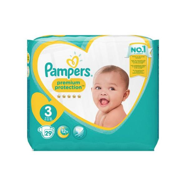 Pampers New Baby Premium Protection T3 6-10kg 29 couches