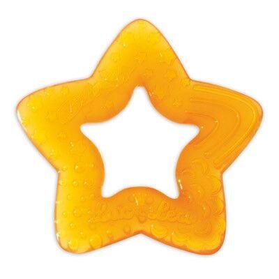 Luc et Léa Anneau de Dentition Etoile 'Bébé Star' Orange 4m+