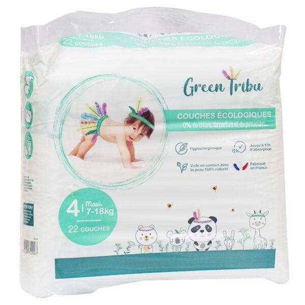 Green Tribu Couches Écologiques Taille 4 7-18 kg 22 Unités