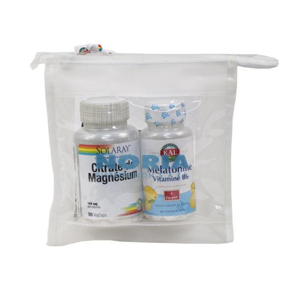 Solaray Citrate de Magnésium 90 capsules végétales + Mélatonine B6 60 capsules