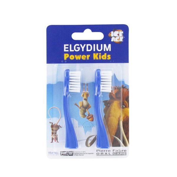 Elgydium Recharge Brosse à Dents Electrique Power Kids l'Age de Glace Bleu