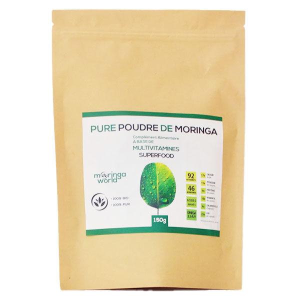Grow Green Complément Alimentaire Poudre de Moringa Bio 150g