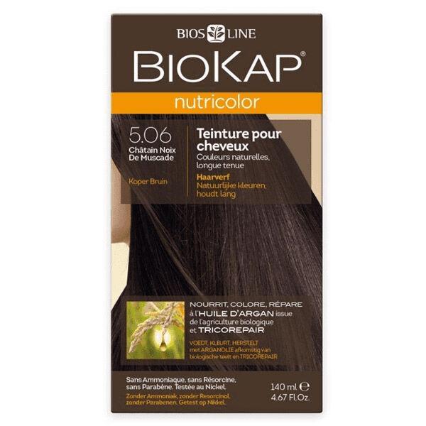 Biokap Nutricolor Teinture pour Cheveux 5.06 Châtain Noix de Muscade 140ml