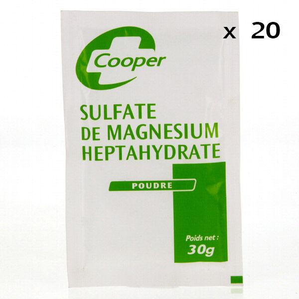 Sulfate de Magnésium Heptahydraté en poudre 20 sachets de 30g