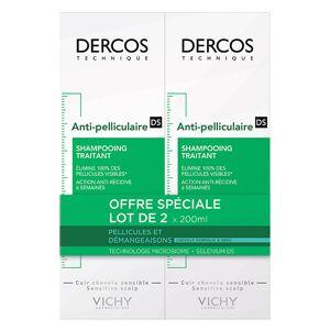 Vichy Dercos Shampooing Antipelliculaire Cheveux Normaux à Gras Lot de 2 x 200ml - Publicité
