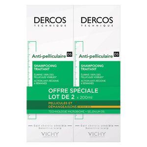 Vichy Dercos Shampooing Antipelliculaire Cheveux Secs 2 x 200ml - Publicité