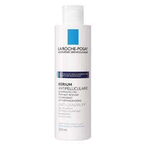 La Roche Posay Kerium Shampoing Antipelliculaire Cheveux Gras 200ml - Publicité