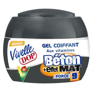 Dop Vivelle Dop Gel Coiffant aux Vitamines Fixation Béton Effet Mat Force 9 150ml - Publicité