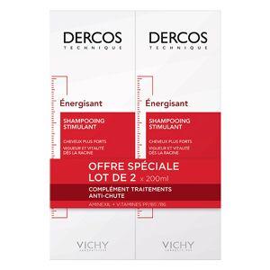 Vichy Dercos Shampoing Anti-Chute Énergisant Lot de 2 x 200ml - Publicité