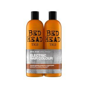 TIGI Bed Head Shampooing Couleur Electrique 750ml + Après Shampooing Couleur Electrique 750ml - Publicité