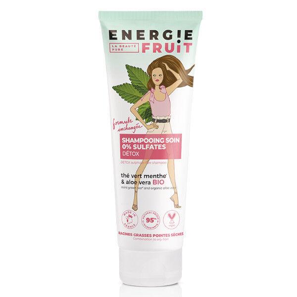 Energie Fruit Shampooing Micellaire et Détox Thé Vert Menthe et Aloe Vera Bio 250ml