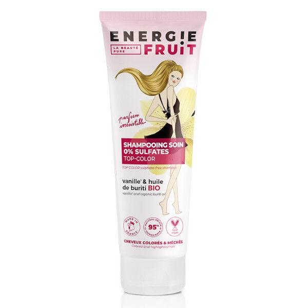 Energie Fruit Shampooing Sans Sulfates Cheveux Colorés Vanille et Huile de Buriti Bio Vegan 250ml