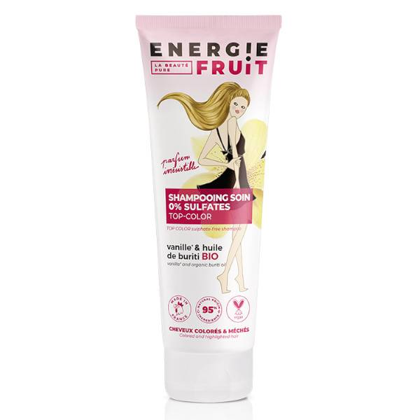 Energie Fruit Shampooing Cheveux Colorés Vanille et Huile de Buriti Bio 250ml