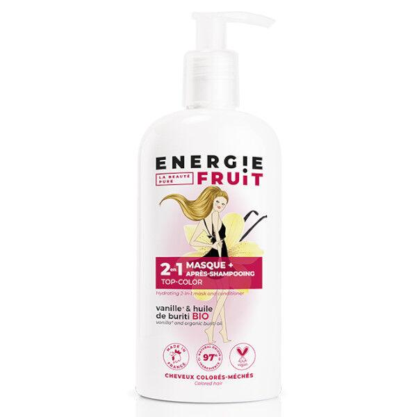 Energie Fruit 2 en 1 Masque et Après-Shampooing Vanille et Huile de Buriti Bio 300ml