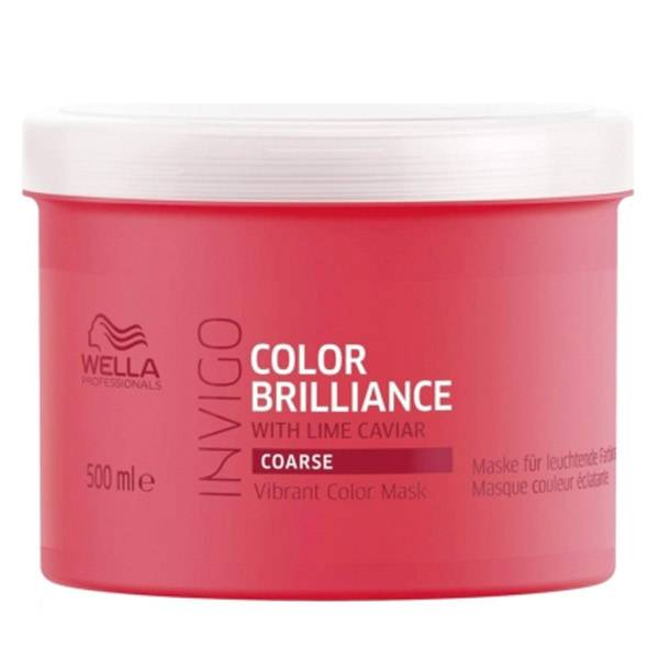 Wella Professionals Invigo Color Brillance Masque Citron Caviar Cheveux Épais 500ml