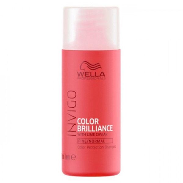 Wella Professionals Invigo Color Brillance Shampooing Citron Caviar Cheveux Colorés Fins à Normaux 50ml