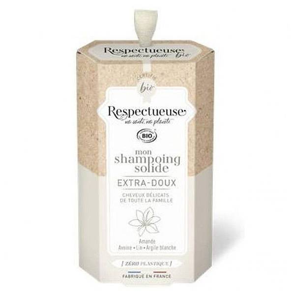 Respectueuse Mon Shampooing Solide Extra-Doux 75g