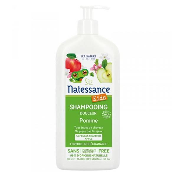 Natessance Kids Shampooing Douceur Pomme Bio 500ml