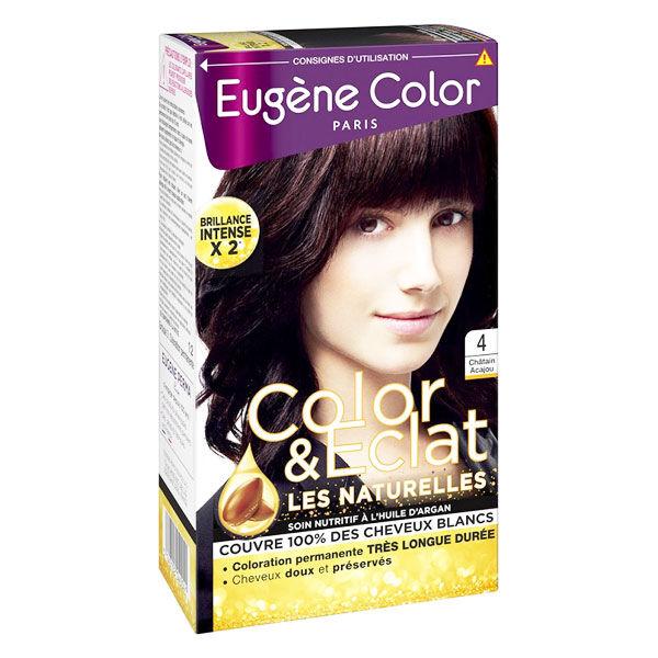 Eugène Color Les Naturelles Crème Colorante Permanente n°4 Châtain Acajou