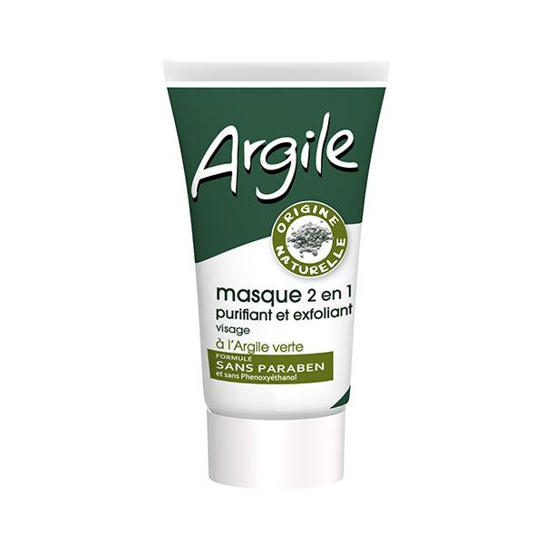 Juvaflorine Masque 2 en 1 Argile Verte 70g