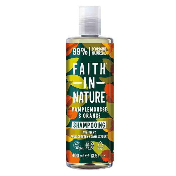 Faith In Nature Shampoing Naturel Pamplemousse & Orange 400ml