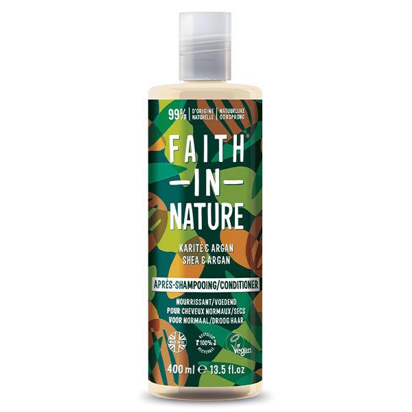 Faith In Nature Après-Shampooing Naturel Argan et Karité 400ml