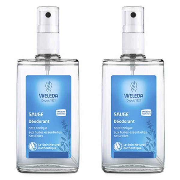 Weleda Sauge Déodorant Lot de 2 x 100ml
