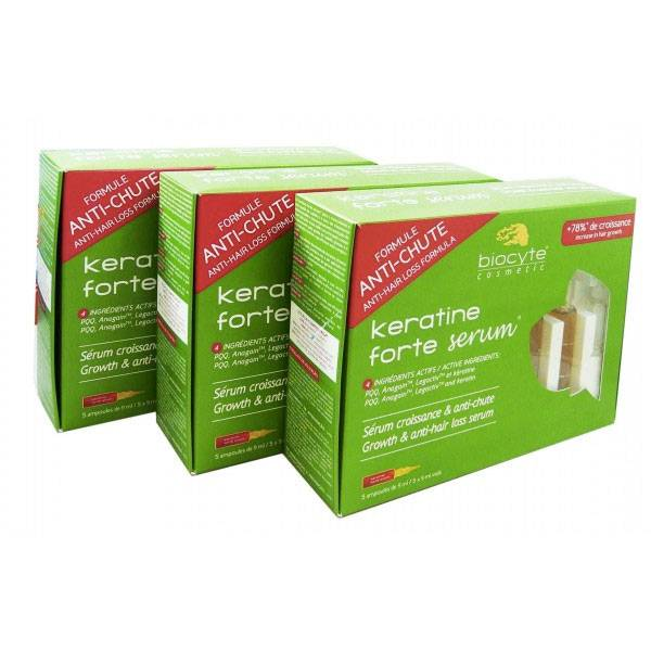 Biocyte Kératine Anti-chute Sérum Lot de 3 x 5 ampoules