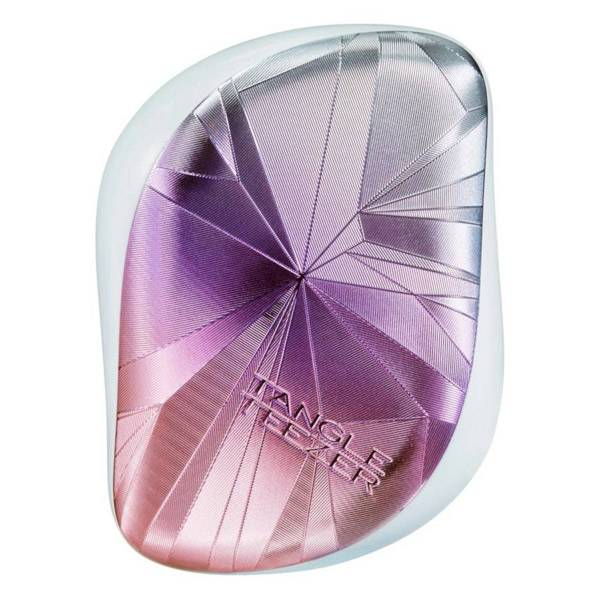 Tangle Teezer The Compact Styler Smashed Brosse à Cheveux Holo Blue/Pink