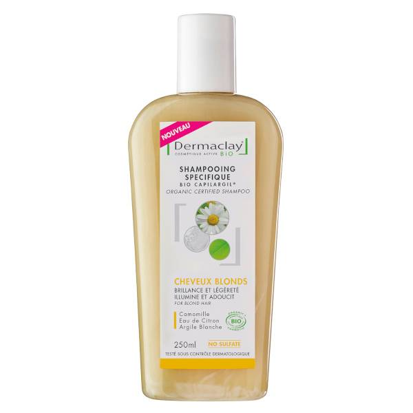 Dermaclay Shampooing Bio Cheveux Blonds 250ml