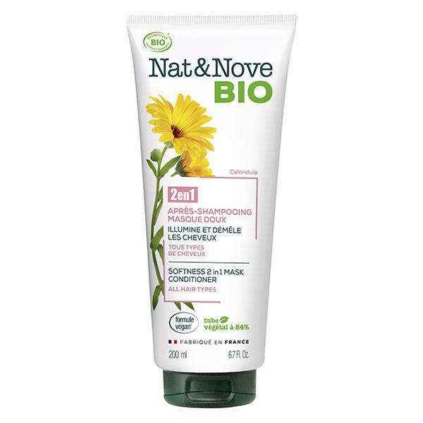 Nat&Nove Bio Nat&Nove; Bio 2en1 Après-Shampooing Masque Doux Calendula 200ml