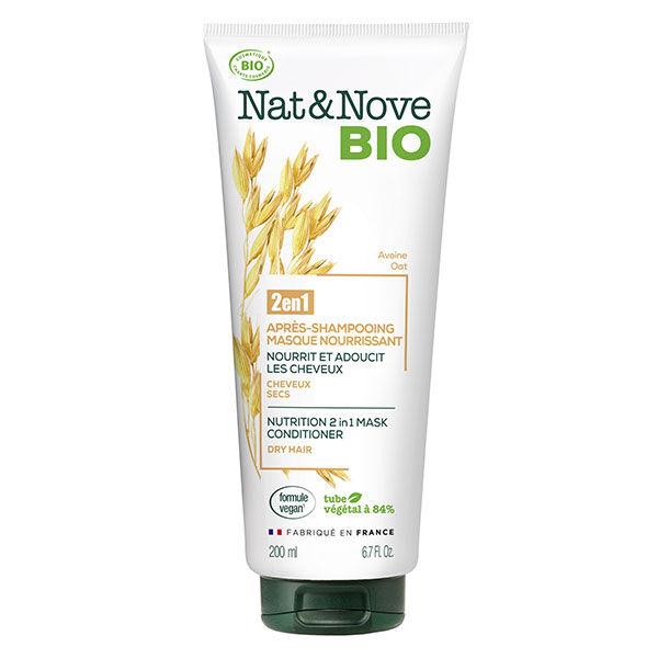 Nat&Nove Bio Nat&Nove; Bio 2en1 Après-Shampooing Masque Nourrissant Avoine 200ml