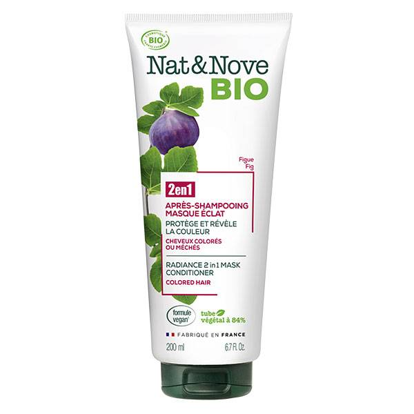 Nat&Nove Bio Nat&Nove; Bio 2en1 Après-Shampooing Masque Éclat Figue 200ml