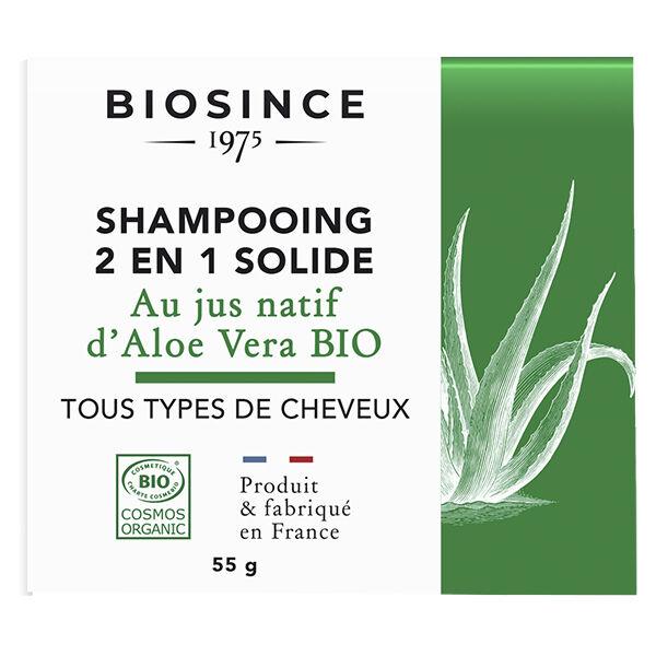 Gravier Biosince 1975 Shampooing 2 en 1 Solide Aloe Vera Bio 55g