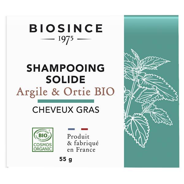Gravier Biosince 1975 Shampooing Solide Cheveux Gras Argile & Ortie Bio 55g