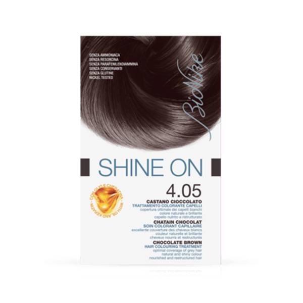 Bionike Defence Shine-On Soin Colorant Capillaire 4.05 Châtain Chocolat 75ml + 50ml