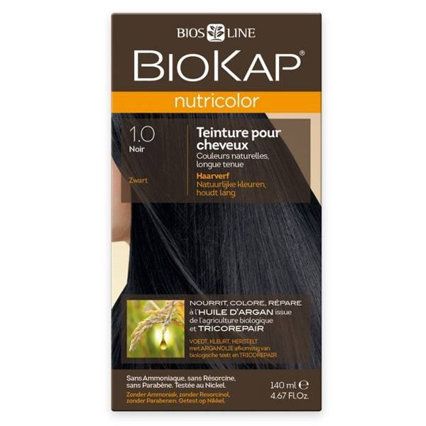 Biokap Nutricolor Teinture pour Cheveux 1.0 Noir 140ml