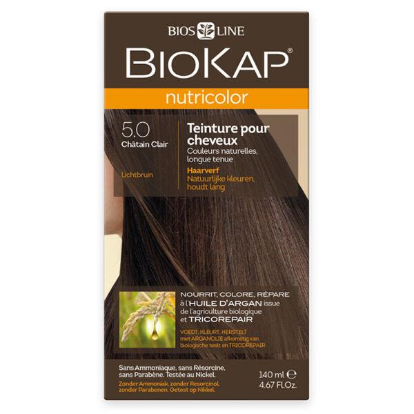 Biokap Nutricolor Teinture pour Cheveux 5.0 Châtain Clair 140ml