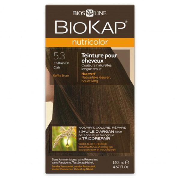 Biokap Nutricolor Teinture pour Cheveux 5.3 Châtain Or Clair 140ml