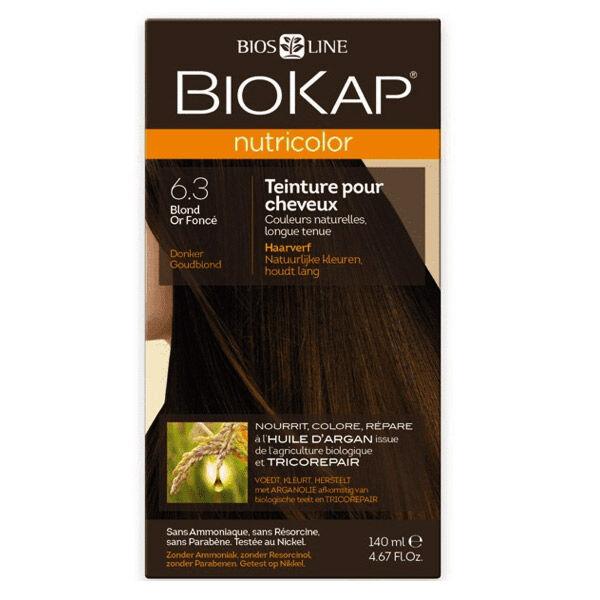 Biokap Nutricolor Teinture pour Cheveux 6.3 Blond Or Foncé 140ml